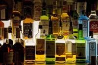 Bottles of Liquor, De Luan's Bar, Ballydowane, County Waterford, Ireland Fine-Art Print