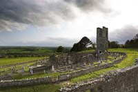 Remains of the Church on St Patrick's Hill, Slane, Co Meath, Ireland Fine-Art Print