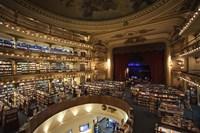 Interiors of a bookstore, El Ateneo, Avenida Santa Fe, Buenos Aires, Argentina Fine-Art Print