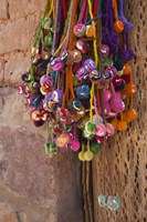 Multi-colored hangings on wall, Tulmas, Purmamarca, Quebrada De Humahuaca, Argentina Fine-Art Print