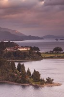 Hotel at the lakeside, Llao Llao Hotel, Lake Nahuel Huapi, San Carlos de Bariloche, Rio Negro Province, Patagonia, Argentina Fine-Art Print
