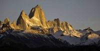 Sun Reflecting off Mt Fitzroy, Argentine Glaciers National Park, Santa Cruz Province, Patagonia, Argentina Fine-Art Print