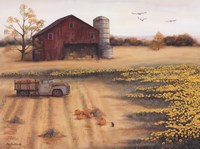 Barn & Sunflowers II Fine-Art Print