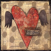 Blessed Heart with Wings Fine-Art Print