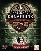 Florida State Seminoles 2014 BCS National Champions Team Logo Fine-Art Print