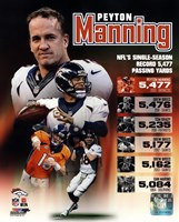 Peyton Manning Single Season Passing Yards Record Fine-Art Print