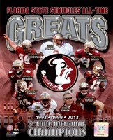 Florida State University Seminoles All Time Greats Composite Fine-Art Print