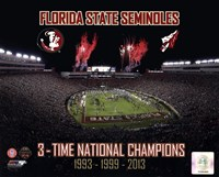 Florida State Seminoles 3- Time National Champions Fine-Art Print