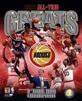 Houston Rockets All-time Greats Composite Fine-Art Print