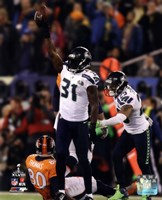 Kam Chancellor & Earl Thomas Celebrate Chacellor's Interception Super Bowl XLVIII Fine-Art Print