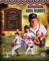 Greg Maddux MLB Hall of Fame Legends Composite Fine-Art Print