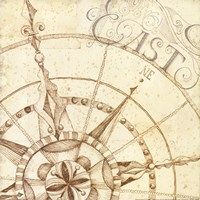 Coast to Coast Sepia III Fine-Art Print