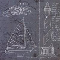 Coastal Blueprint III Fine-Art Print