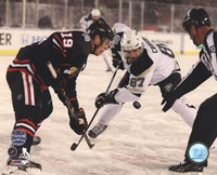 Jonathan Toews & Sidney Crosby 2014 NHL Stadium Series Action Fine-Art Print