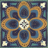 Proud as a Peacock Tile I Fine-Art Print