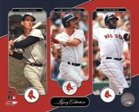 Ted Williams, Carl Yastrzemski, David Ortiz Legacy Collection Fine-Art Print