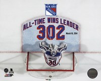 Henrik Lundqvist New York Rangers All-Time Wins Leader 302 Wins Overlay Fine-Art Print
