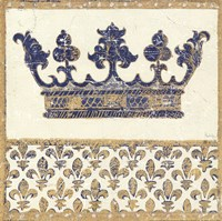 Regal Crown Indigo and Cream Fine-Art Print
