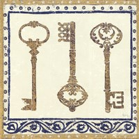 Regal Keys Indigo and Cream Fine-Art Print