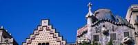 Low angle view of a building, Casa Batllo, Passeig De Gracia, Barcelona, Catalonia, Spain Fine-Art Print