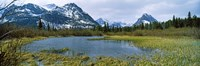 Lake with mountains in the background, US Glacier National Park, Montana, USA Fine-Art Print
