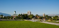 Lawn with Salt Lake City Council Hall in the background, Capitol Hill, Salt Lake City, Utah, USA Fine-Art Print