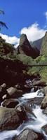 Stream flowing through a valley, Iao Needle, Iao Valley, Wailuku, Maui, Hawaii, USA Fine-Art Print