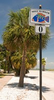 Mile marker zero at Pass-A-Grille, St. Pete Beach, Tampa Bay Area, Tampa Bay, Florida, USA Fine-Art Print