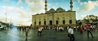 Courtyard in front of Yeni Cami, Eminonu district, Istanbul, Turkey Fine-Art Print