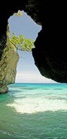 Cliffside cave at Xtabi Hotel, Negril, Westmoreland, Jamaica Fine-Art Print