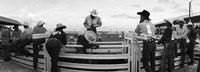 Cowboys at rodeo, Pecos, Texas, USA Fine-Art Print