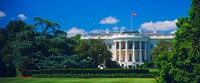 Facade of a government building, White House, Washington DC Fine-Art Print