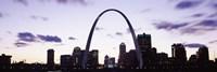 Gateway Arch with city skyline, St. Louis, Missouri Fine-Art Print