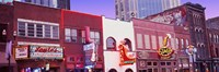 Neon signs on buildings, Nashville, Tennessee Fine-Art Print