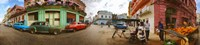 360 degree view of street scene, Havana, Cuba Fine-Art Print