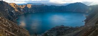 Lake surrounded by mountains, Quilotoa, Andes, Cotopaxi Province, Ecuador Fine-Art Print