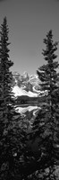 Lake in front of mountains in black and white, Banff, Alberta, Canada Fine-Art Print