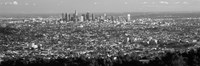 Black and White View of Los Angeles from a Distance Fine-Art Print
