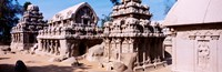 Monuments in a temple, Panch Rathas, Mahabalipuram, Tamil Nadu, India Fine-Art Print