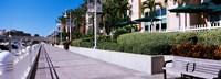 Buildings along a walkway, Garrison Channel, Tampa, Florida, USA Fine-Art Print