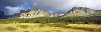 Clouds over mountains, Many Glacier valley, US Glacier National Park, Montana, USA Fine-Art Print