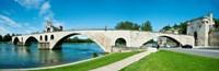 Bridge across a river, Pont Saint-Benezet, Rhone River, Avignon, Vaucluse, Provence-Alpes-Cote d'Azur, France Fine-Art Print