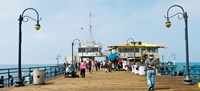 Tourists on Santa Monica Pier, Santa Monica, Los Angeles County, California, USA Fine-Art Print