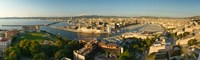 High angle view of a city with port, Marseille, Bouches-du-Rhone, Provence-Alpes-Cote D'Azur, France Fine-Art Print