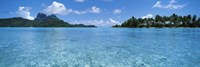 Motu and lagoon, Bora Bora, Society Islands, French Polynesia Fine-Art Print