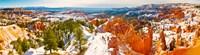 High angle view of rock formations, Boat Mesa, Bryce Canyon National Park, Utah, USA Fine-Art Print
