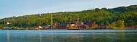 Abandoned copper mine at the waterfront, Keweenaw Waterway, Houghton, Upper Peninsula, Michigan, USA Fine-Art Print