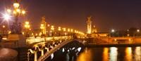 Bridge across the river at night, Pont Alexandre III, Seine River, Paris, Ile-De-France, France Fine-Art Print