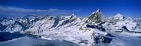 Snow Covered Swiss Alps, Switzerland Fine-Art Print