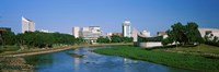 Downtown Wichita viewed from the bank of Arkansas River, Kansas Fine-Art Print